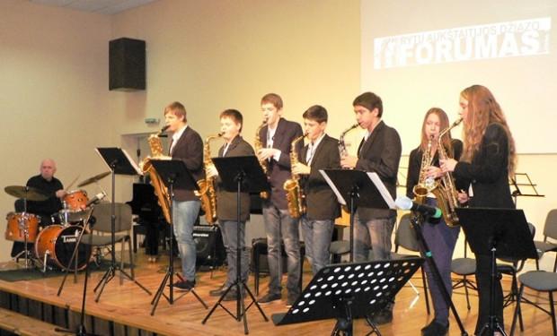 Džiazo forumas Utenos muzikos mokykloje